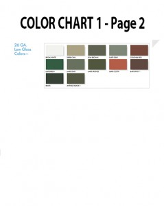 Metal Roofing Colors - Metal Colors - Commercial Roofing Contractor Denver