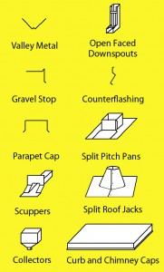 Custom Sheet Metal Roofing Accessories and Sheet Metal Flashing